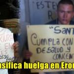 Se intensifica huelga de presos de guerra en ERON-Picota